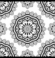 simple black and white pattern vector image