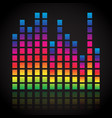 single colorful eq equalizer element isolated on vector image vector image