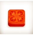 slice tomato app icon vector image vector image