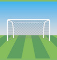 soccer goal and grass in the football stadium vector image