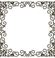 square frame of the patterns vector image vector image