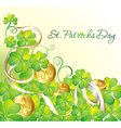 st patrick background vector image vector image