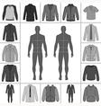 street fashion clothing 21 vector image vector image