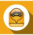 Taxi design cab concept transportation icon vector image