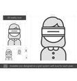 Three D reality line icon vector image vector image