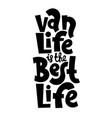van life lettering vector image