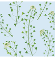 weed pattern vector image vector image