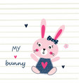 with cute bunny vector image vector image