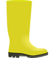 yellow wellie vector image