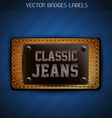 classic jeans label vector image