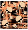 Grunge seamless background with scull vector image