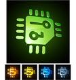 3d vibrant CPU emblems vector image vector image