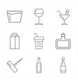 9 modern flat bar icons vector image vector image