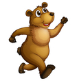 A big bear running vector image vector image