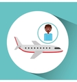 afroamerican man traveler airplane vector image
