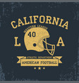 american football california sport typography vector image vector image
