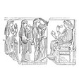 bas-relief from the harpy tomb in the british vector image vector image