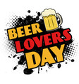 beer lovers day black ink splatter vector image vector image