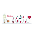 blood donate concept flat icons vector image