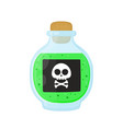 bottle of magic acid green toxic poison vector image vector image