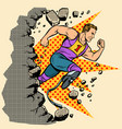 breaks the wall disabled runner with leg vector image vector image