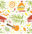 bright tropical seamless pattern tropical vector image