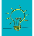 Bulb icon and big idea concept vector image