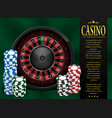 casino gambling poster or flyer design casino vector image vector image