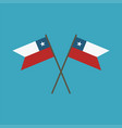 chile flag icon in flat design vector image vector image
