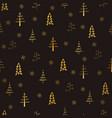 christmas tree and snowflake seamless repeat vector image vector image