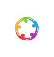 colorful abstract people circle logo vector image vector image