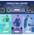 Consulting Service Center Banners vector image