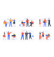 coworking business team people working together vector image vector image