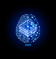 crypto currency stratis on brain background vector image vector image