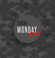 Cyber monday sale poster winter offer advertising vector image
