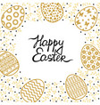easter card with egg and palm tree vector image