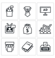 Elections icons vector image vector image