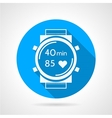 Fitness watch flat round icon vector image vector image