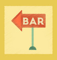 flat shading style icon bar sign vector image vector image