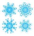 floral and ornamental elements vector image vector image