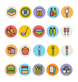 Food Colored Icons 11 vector image vector image