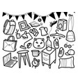 furniture hand drawn home accessories vector image vector image