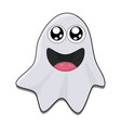 halloween ghost symbol icon design vector image