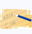 handwriting vector image vector image