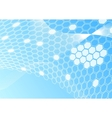 honeycomb card template vector image vector image