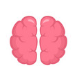 human brain icon flat style vector image vector image