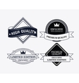 Label icon set Premium and Quality design vector image vector image