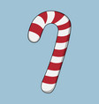 lollipop xmas icon cartoon style christmas day vector image