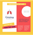 lungs company brochure template busienss template vector image vector image