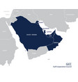 map gulf cooperation council gccs vector image vector image